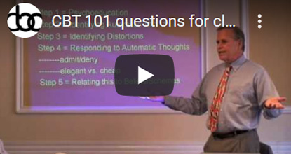 Image of CBT 101 questions for clients click to see video