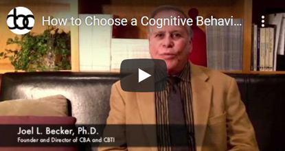 Image of How to Choose a Cognitive Behavior Therapist video click to see