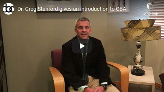 Image of Dr. Greg Stanford gives an introduction to CBA Video Click to see